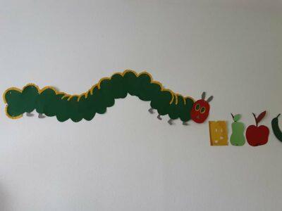 Kindergarten Brotzeitstüberl Raupe